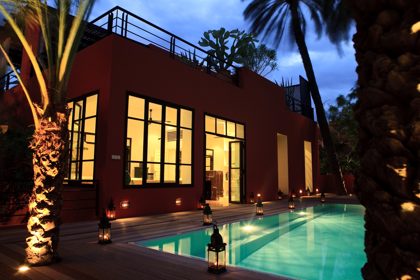 A louer en exclusivit marrakech 10 villas avec piscine for Villa marrakech piscine