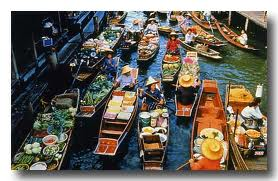 bangkok marche flottant