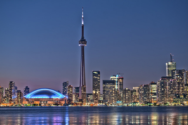 Toronto night skyline