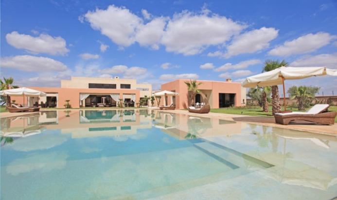 villa avec piscine chauffée Marrakech